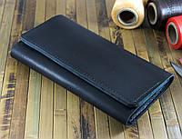 Большой мужской клатч - кошелёк чёрный (283001)