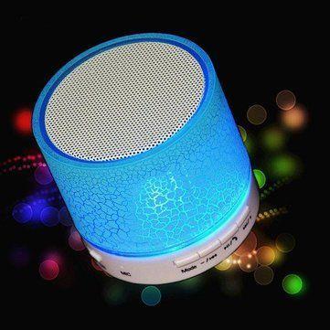Беспроводная Bluetooth колонка с USB, MicroSD, FM и подсветкой