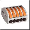 WAGO 415 Соед. клеммы на 5 провода (Германия, с завод.надписями)