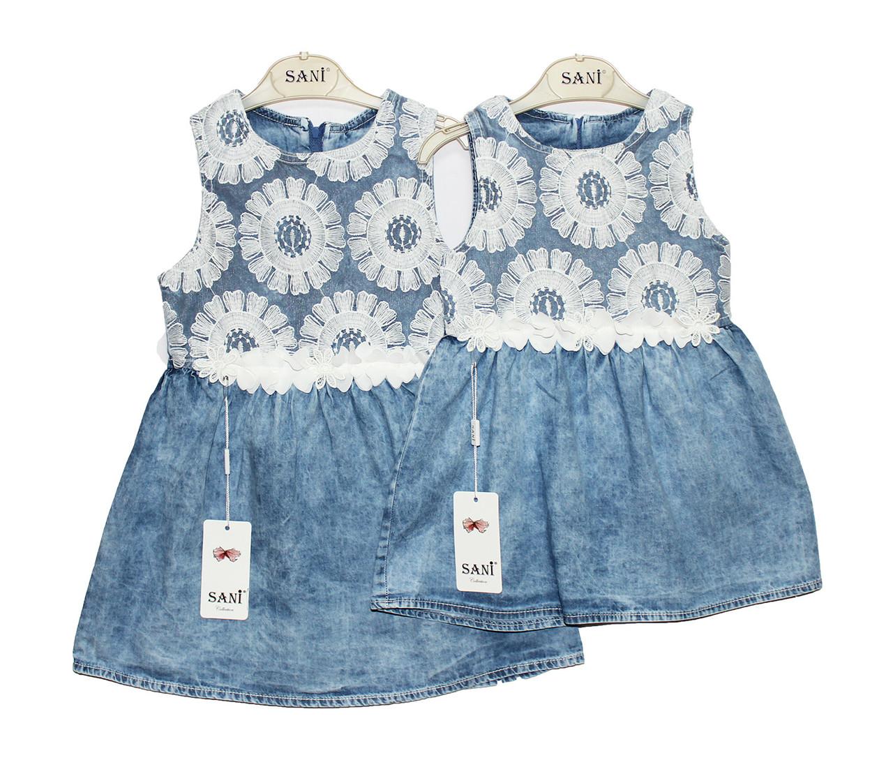 Платья джинсовое детское на лето SANI 9159