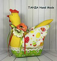"""Мягкая игрушка ручной работы """"Пасхальная курочка"""", фото 1"""