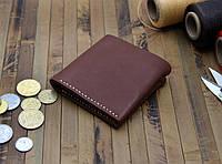 Кожаный кошелек (281011) - коричневый