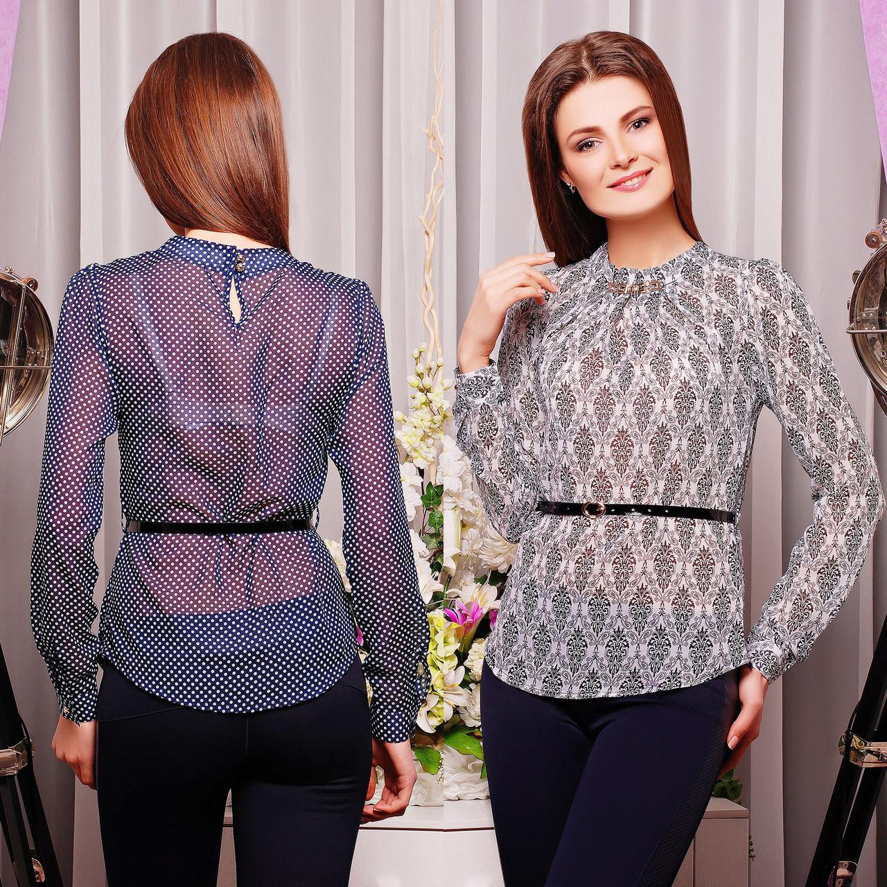 92286b74db3 Купить Шифоновая блузка с ремешком без застежки по лучшей цене в ...