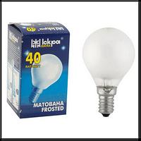 Лампа декоративный шар Искра Львов P45 230В 60Вт Е14 матовая (10 шт.)