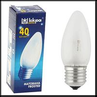 Лампа декоративная свеча Искра Львов В35 230В 60Вт Е27 матовая