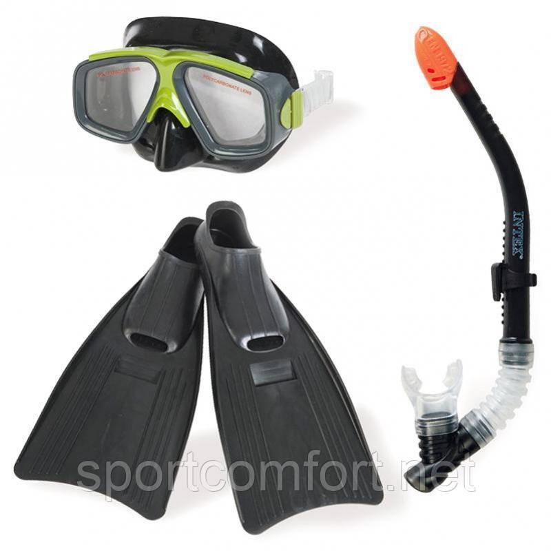 Маска, трубка, ласты (41-45) для плавания Intex
