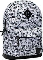 Рюкзак городской с рисунком (Белый, лица, люкди)