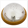 Светильник круглый пластик Звезда светло-коричневый