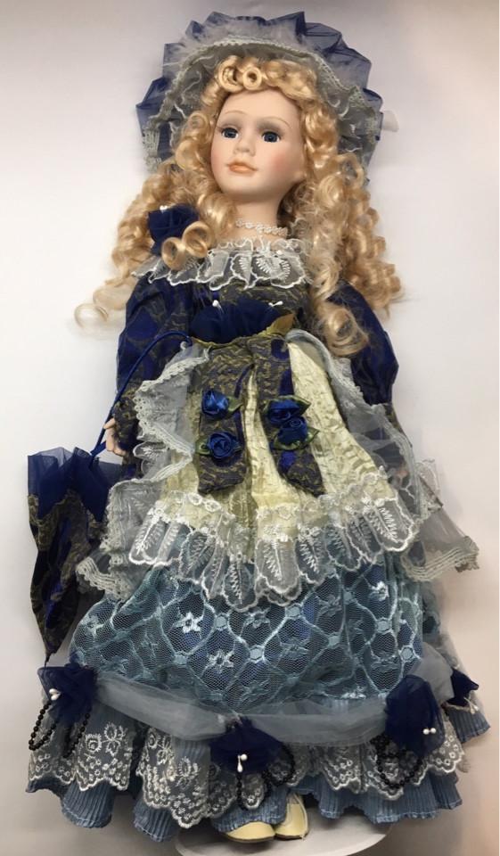 """Фарфоровая, коллекционная кукла, сувенирная 50 см """" Александра """""""