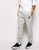 Модные спортивные штаны для парня Fila Фила  серые