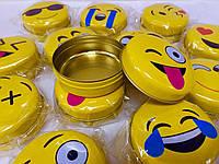 Баночки коробочки жестяные круглые для мелочей