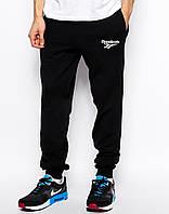 Мужские штаны спортивные Reebok Рибок черные (РЕПЛИКА)