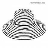 Шляпа женская в полоску с моделируемыми полями , фото 5