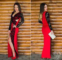 Женское вечернее платье с разрезом