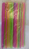 Пластиковые трубочки с изгибом цветные 100 шт