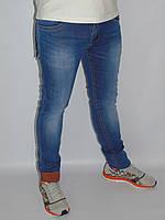 Мужские джинсы LS Red молодёжные  с  подворотом летние