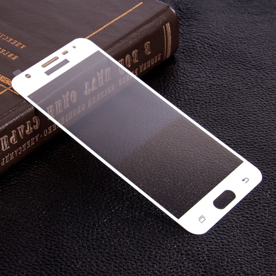 Защитное стекло 3D Full Cover для Samsung J7 Prime SM-G610 Gold (Screen Protector 0,3 мм)