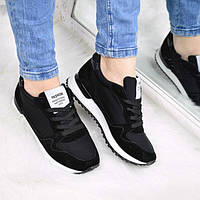 Кроссовки женские Fashion черные, спортивная обувь