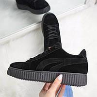 Кроссовки криперы Kreeper черные, спортивная обувь