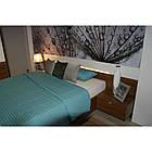 Кровать ZEFIR 76 160x200 Szynaka орех san diego/белый глянец, фото 6