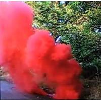 Красный дым DUPLEX, красный дуплекс, дымовой факел цветной