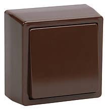 ВС20-1-0-БК Выключатель одноклавишный коричневый БРИКС