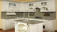 элитная угловая кухня белая с патиной фото 58