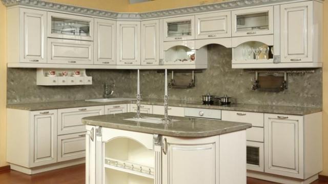 кухни мдф белые с патиной фото