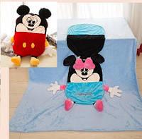 """Одеяло - Подушка, Игрушка """"Микки"""" большое, 110*165см"""