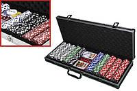 Покер Набор в Кейсе Texas Holdem Poker 500 Фишек
