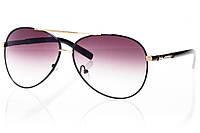 Женские солнцезащитные очки капли черный/золото
