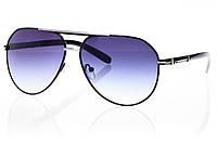 Женские солнцезащитные очки капли черный/серебро
