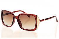 Женские солнцезащитные очки классика коричневый градиент