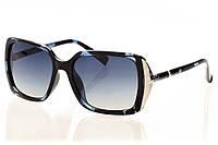 Женские солнцезащитные очки классика серо-синий градиент