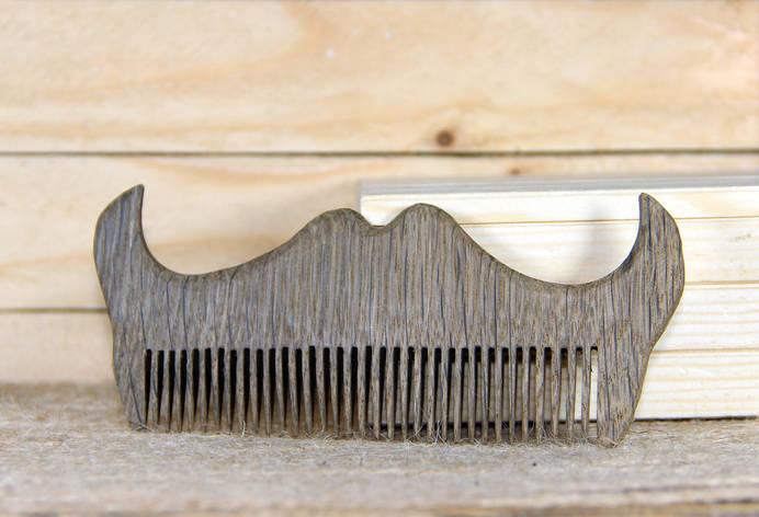 """Гребешок БрадВей деревянный для бороды """"Усы"""" (264006), фото 2"""