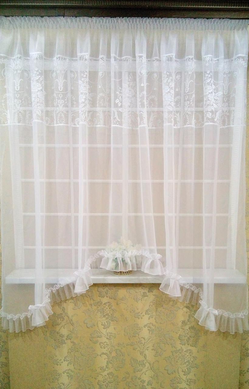 Тюль-арка для кухонного окна