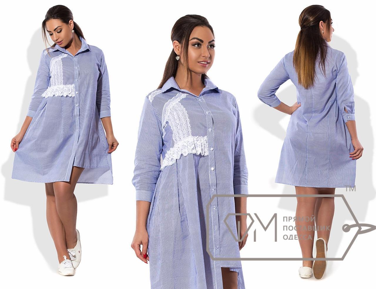 5224f69b0f151f5 Платье-рубашка с кружевом - All You Need - прямой поставщик женской одежды  оптом и