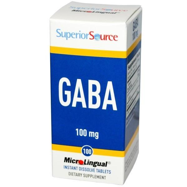 Superior Source, GABA, 100 мг, 100 мгновенно растворяющихся микротаблеток