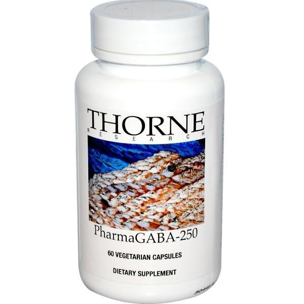 Thorne Research, PharmaGABA-250, 60 растительных капсул