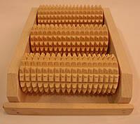 Массажер деревянный для ног на 3 валика