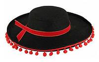 Карнавальная Шляпа Головной Убор Сомбреро Мексиканца Маленькая для Вечеринки