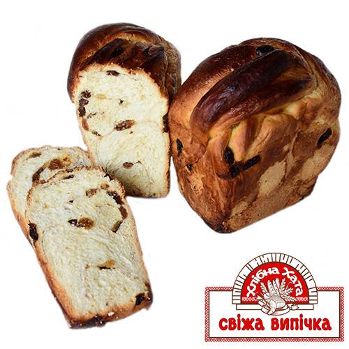 Хлібець солодкий з родзинками і корицею
