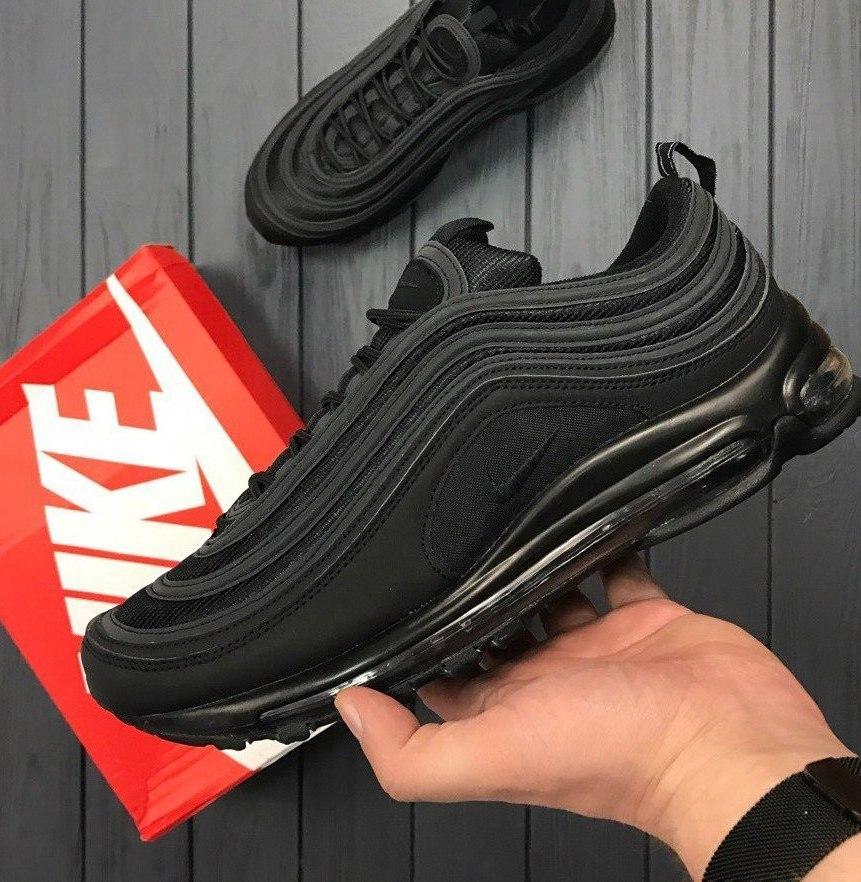 мужские кроссовки в стиле Nike Air Max 97 Triple Black