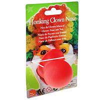Карнавальный Накладной Нос Клоуна с Пищалкой для Вечеринки Маскарад