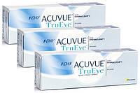 Комплект 3уп - 90 линз 1 Day Acuvue TruEye, однодневные Контактные линзы