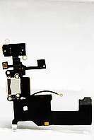 Шлейф iPhone 5 с коннектором зарядки и наушника белый Оригинал, фото 1