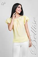 Шифоновая блузка с пышными рукавами желтого цвета