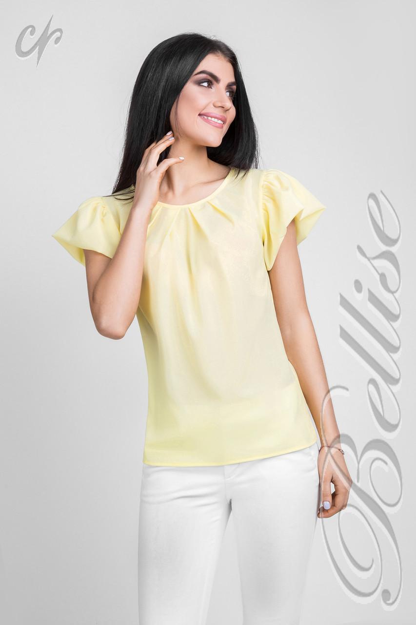 be020cb2a75 Шифоновая блузка с пышными рукавами желтого цвета - Интернет-магазин одежды