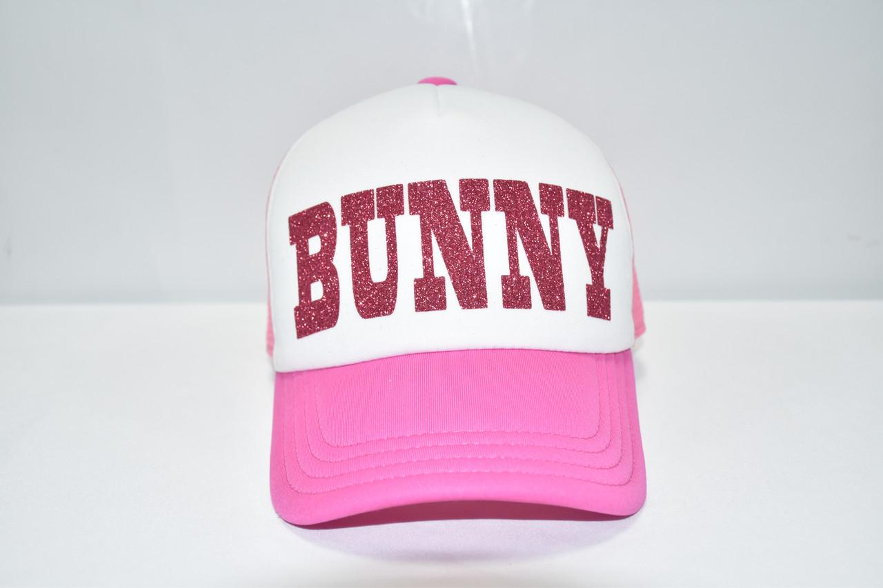 """Кепка розовая """"BUNNY"""""""