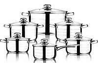 Набор кухонной посуды LUXBERG Radiance 5 кастрюль и ковш с крышками